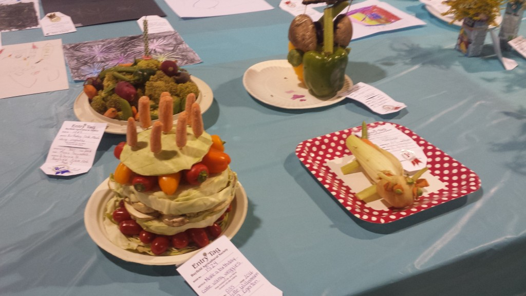 Veggie birthday cake: not as good as money cake!